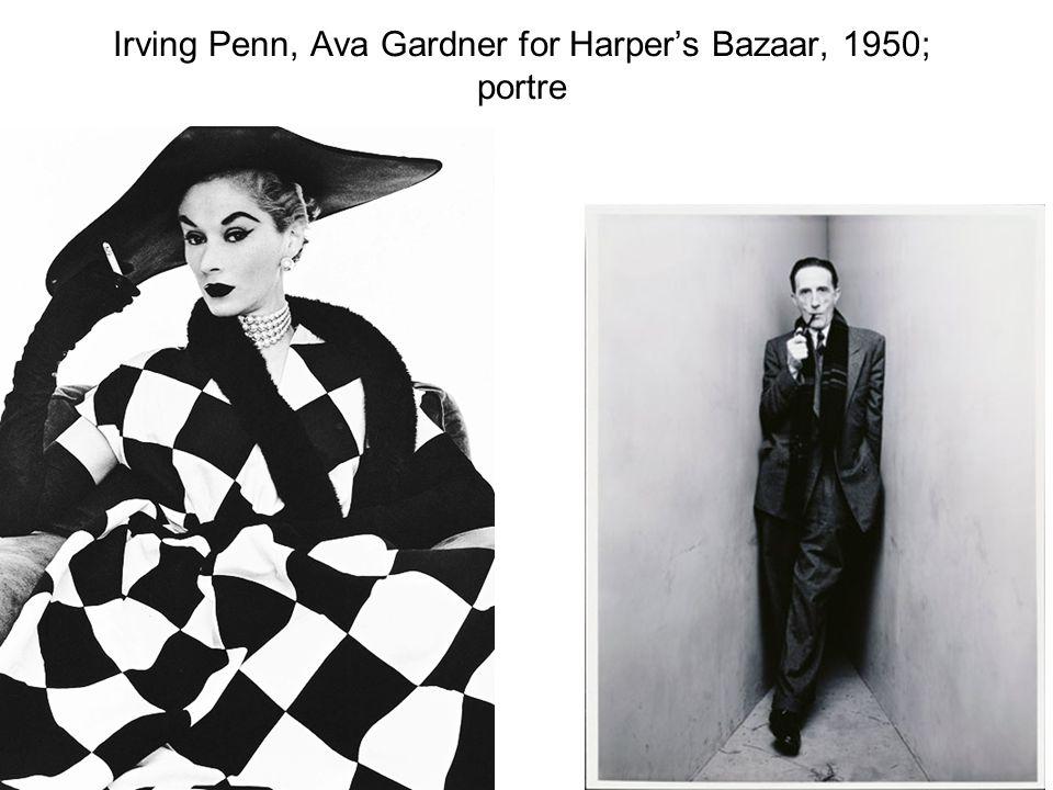 Irving Penn, Ava Gardner for Harper's Bazaar, 1950; portre