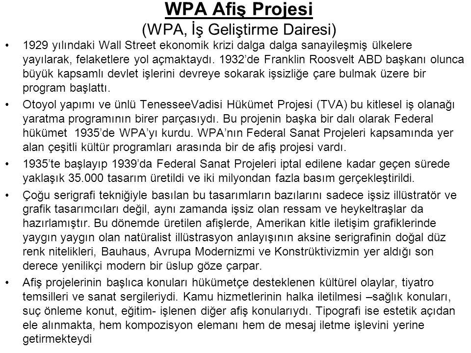 WPA Afiş Projesi (WPA, İş Geliştirme Dairesi)