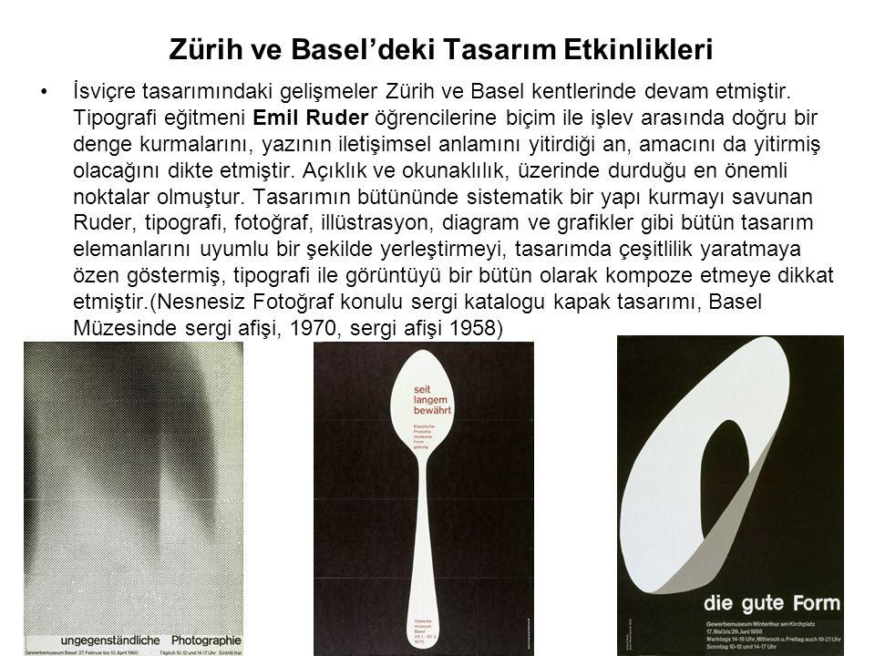 Zürih ve Basel'deki Tasarım Etkinlikleri