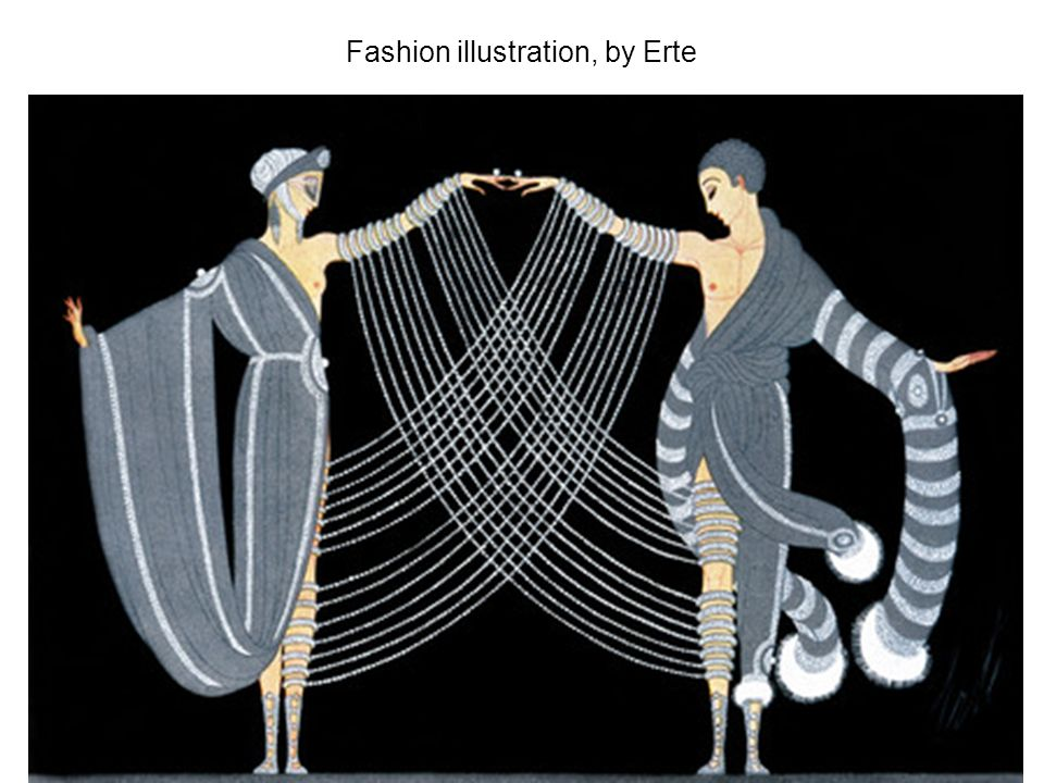 Fashion illustration, by Erte