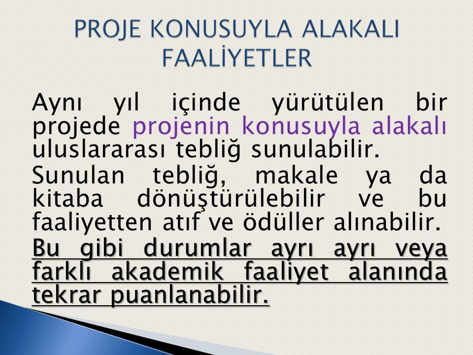 PROJE KONUSUYLA ALAKALI FAALİYETLER