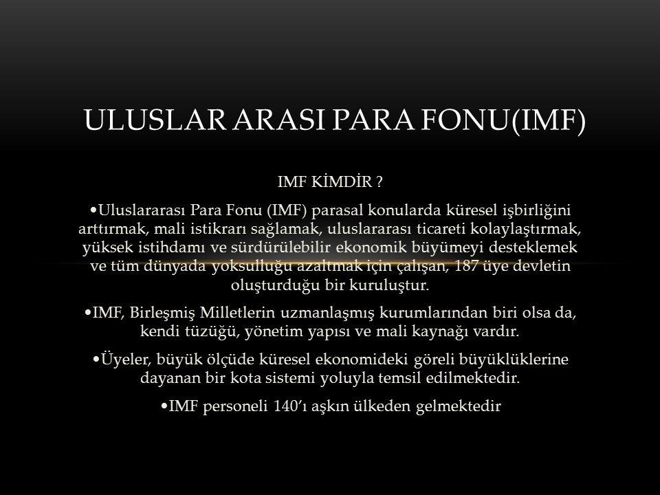 ULUSLAR ARASI PARA FONU(IMF)