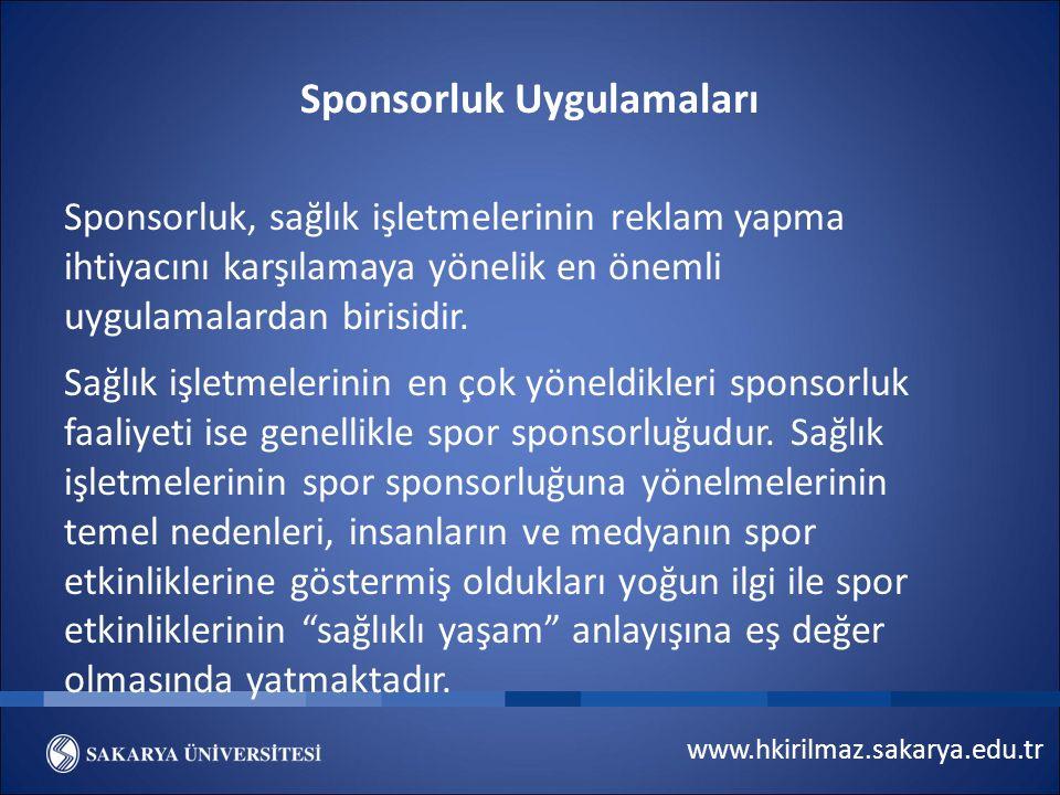 Sponsorluk Uygulamaları