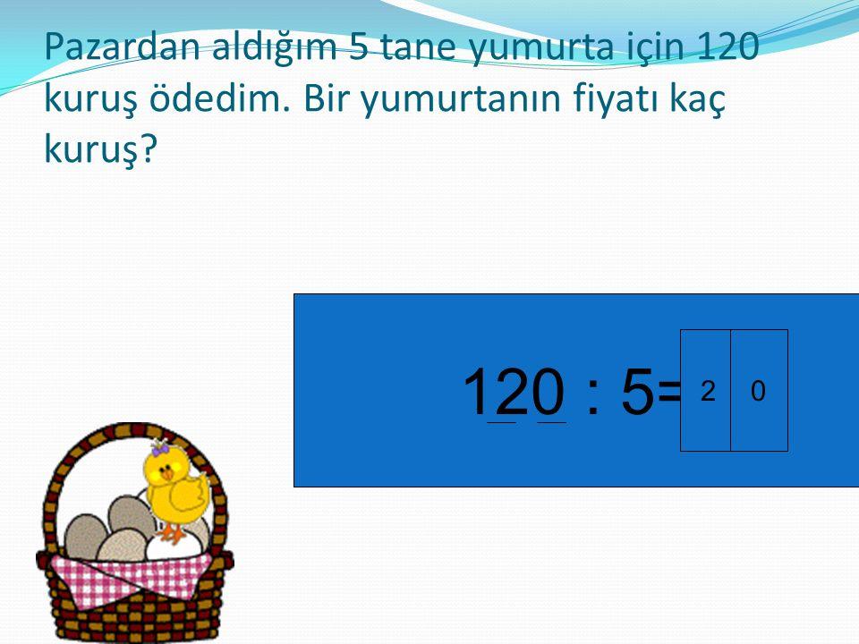 Pazardan aldığım 5 tane yumurta için 120 kuruş ödedim