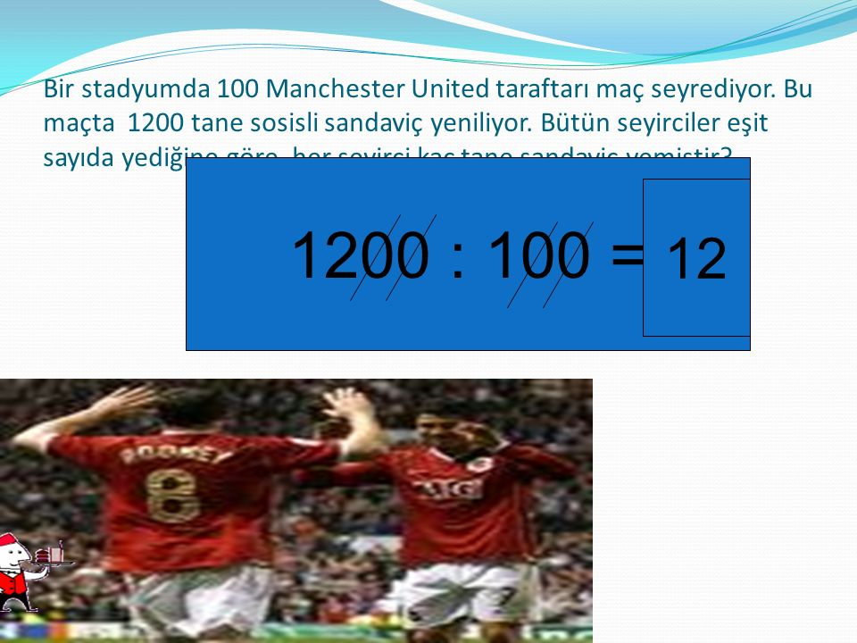Bir stadyumda 100 Manchester United taraftarı maç seyrediyor