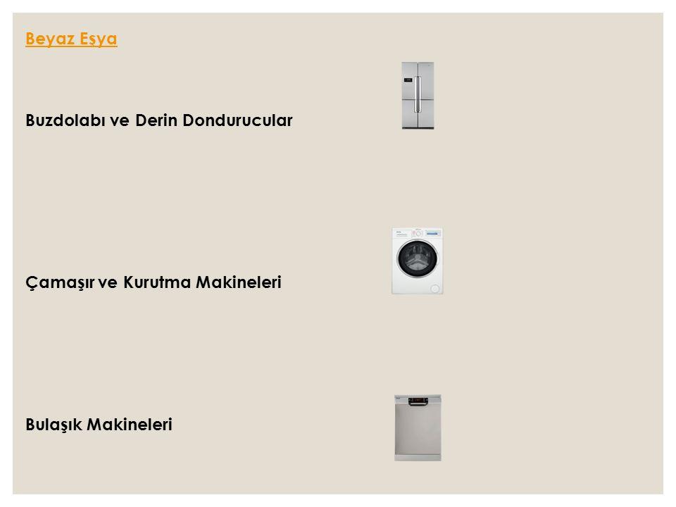 Beyaz Eşya Buzdolabı ve Derin Dondurucular Çamaşır ve Kurutma Makineleri Bulaşık Makineleri