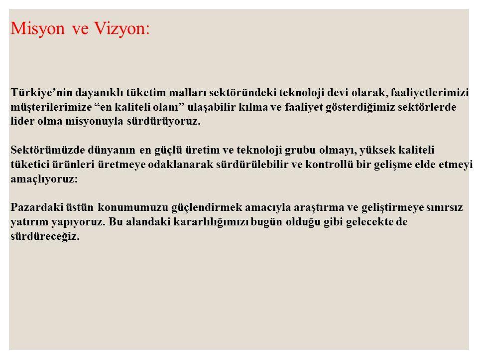 Misyon ve Vizyon: