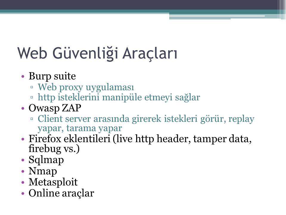 Web Güvenliği Araçları