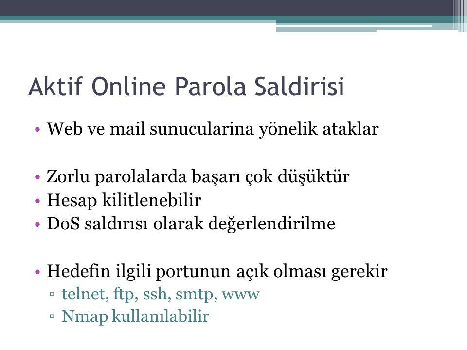 Aktif Online Parola Saldirisi