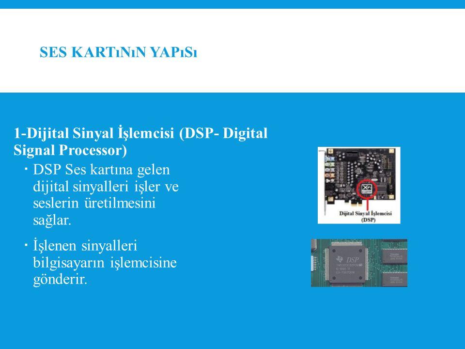 Ses kartının yapısı 1-Dijital Sinyal İşlemcisi (DSP- Digital Signal Processor)