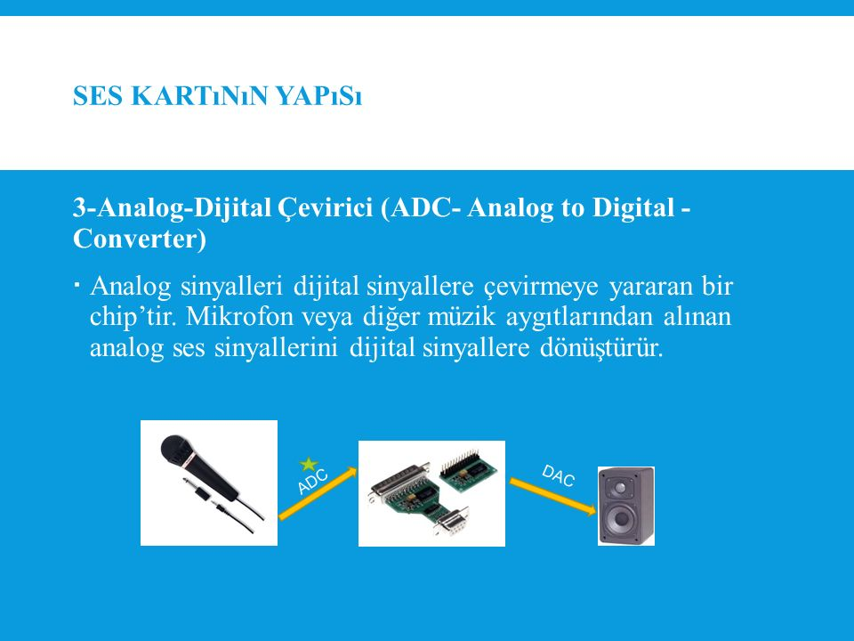 3-Analog-Dijital Çevirici (ADC- Analog to Digital - Converter)