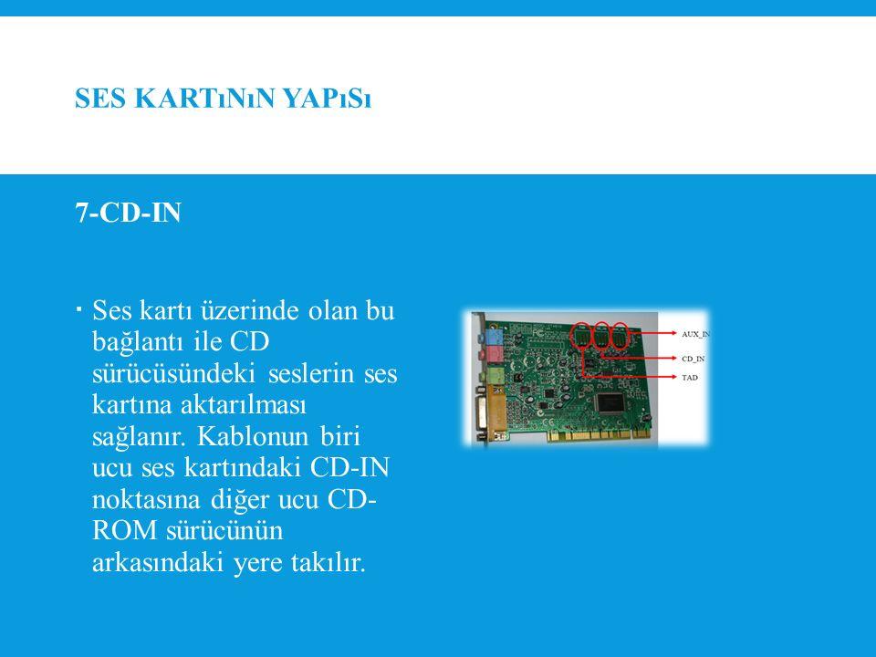 Ses kartının yapısı 7-CD-IN.