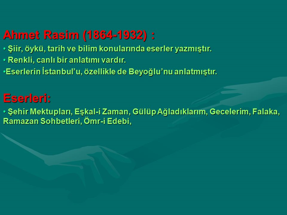 Ahmet Rasim (1864-1932) : Eserleri: