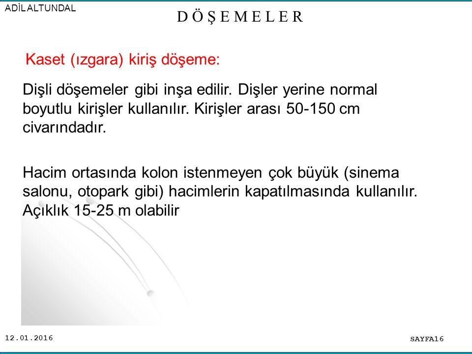 Kaset (ızgara) kiriş döşeme: