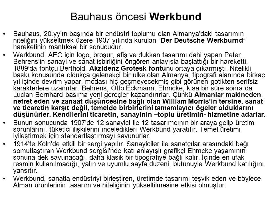 Bauhaus öncesi Werkbund