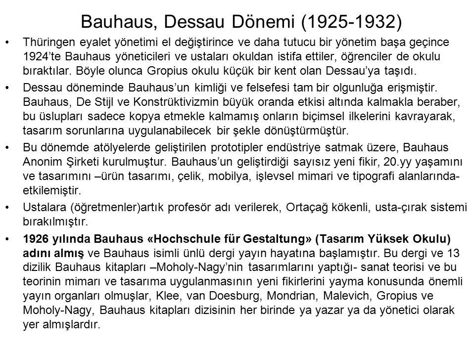 Bauhaus, Dessau Dönemi (1925-1932)