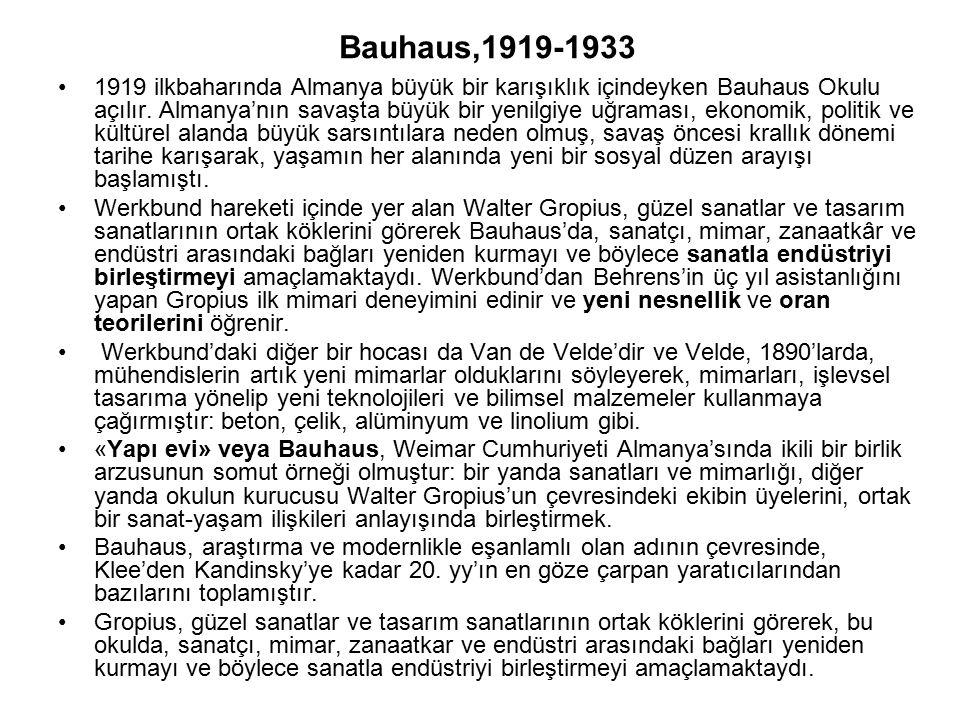 Bauhaus,1919-1933