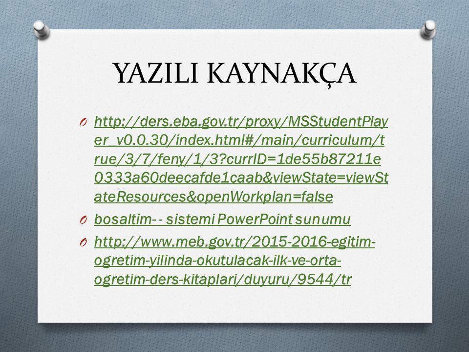 YAZILI KAYNAKÇA