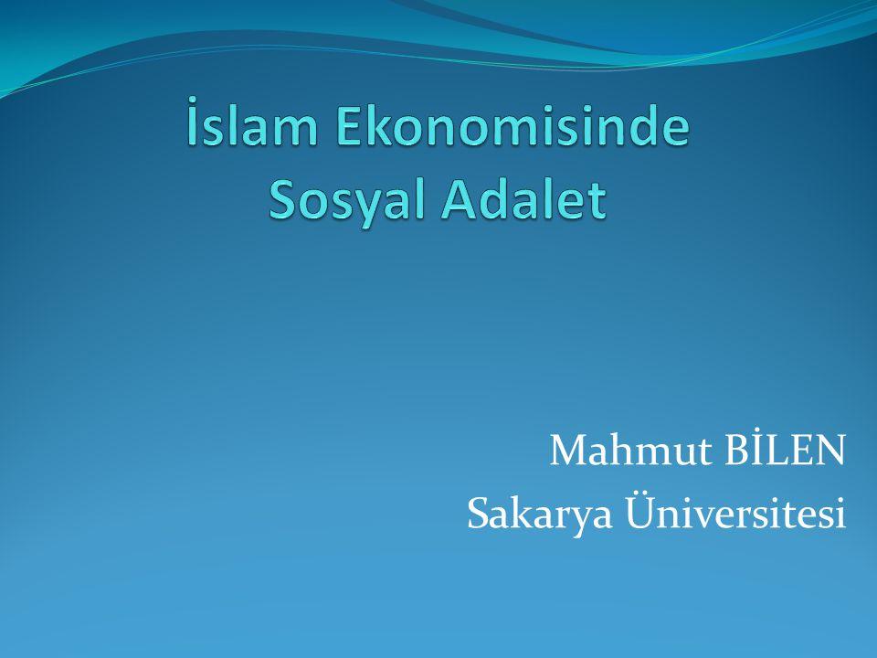 İslam Ekonomisinde Sosyal Adalet