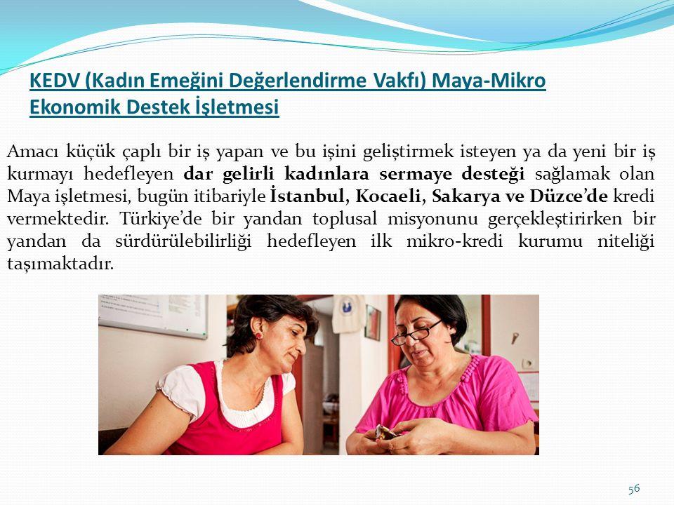 KEDV (Kadın Emeğini Değerlendirme Vakfı) Maya-Mikro Ekonomik Destek İşletmesi