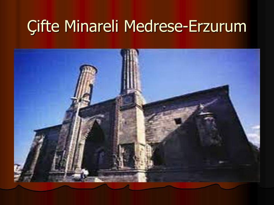 Çifte Minareli Medrese-Erzurum