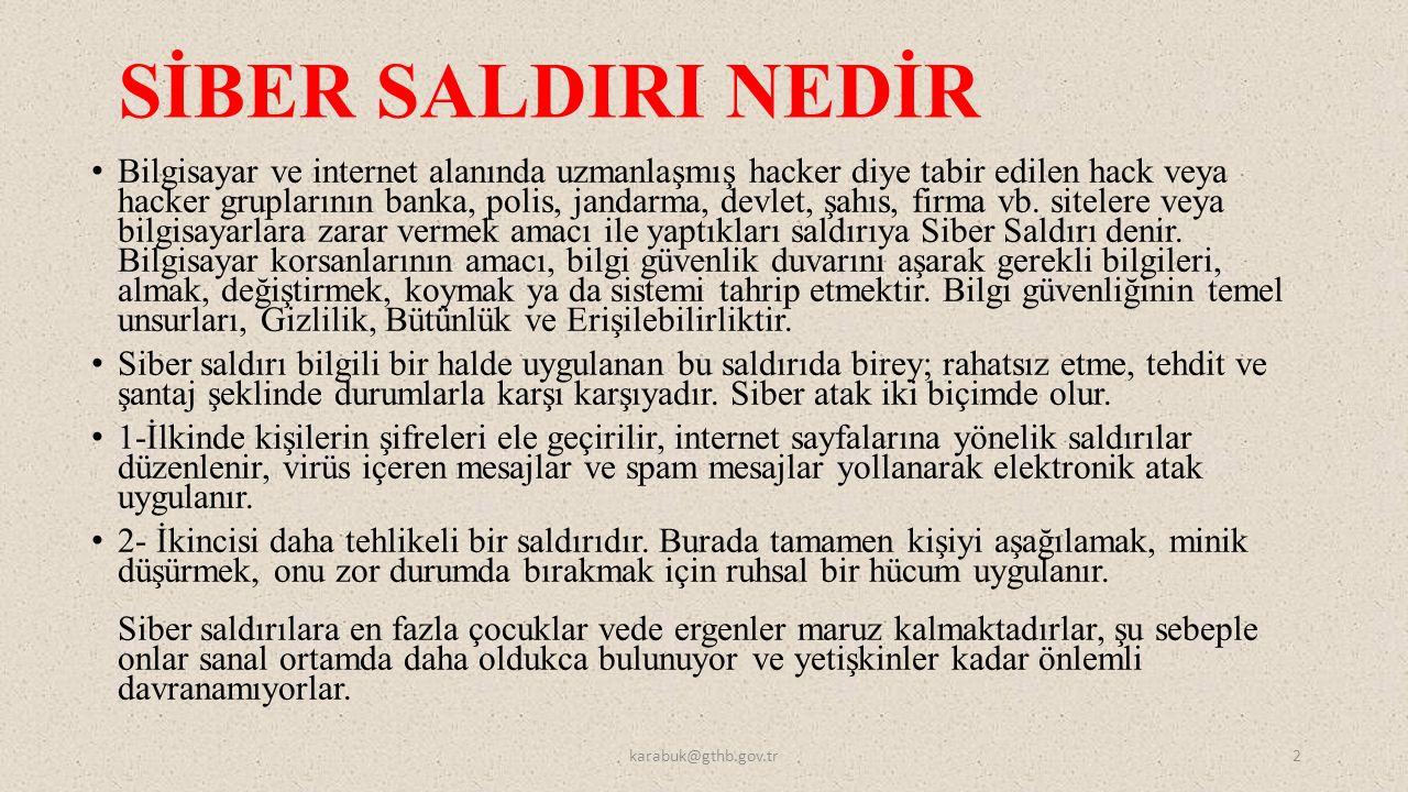 SİBER SALDIRI NEDİR