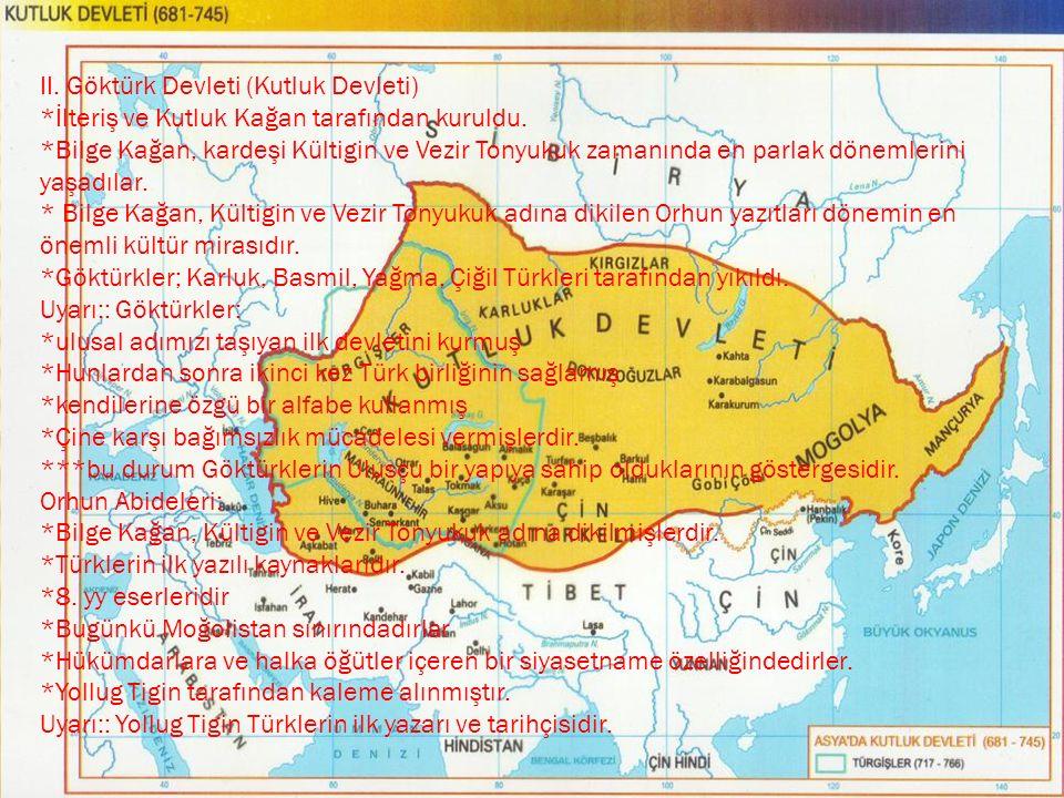 II. Göktürk Devleti (Kutluk Devleti)