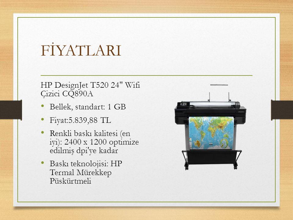 FİYATLARI HP DesignJet T520 24 Wifi Çizici CQ890A