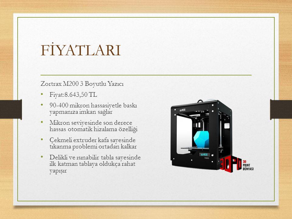 FİYATLARI Zortrax M200 3 Boyutlu Yazıcı Fiyat:8.643,50 TL