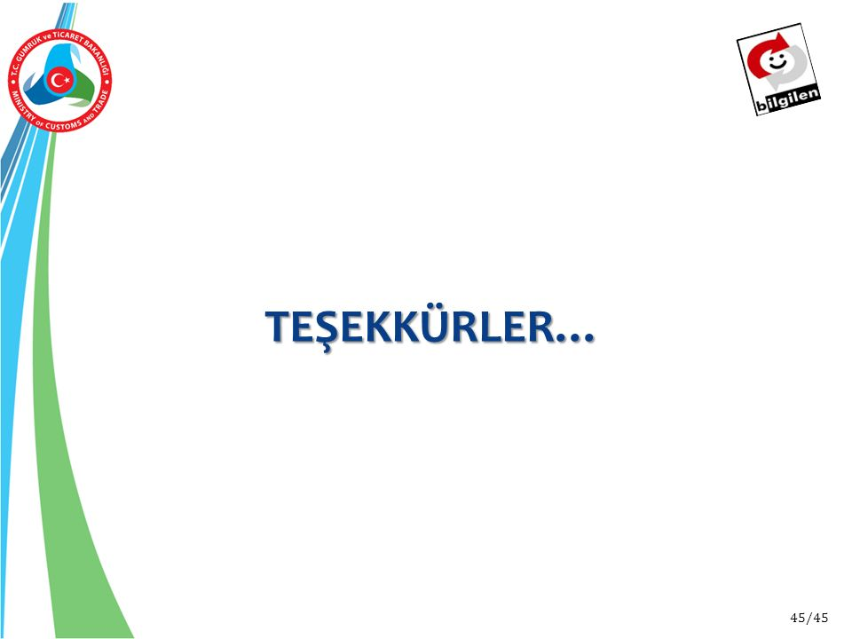 TEŞEKKÜRLER…