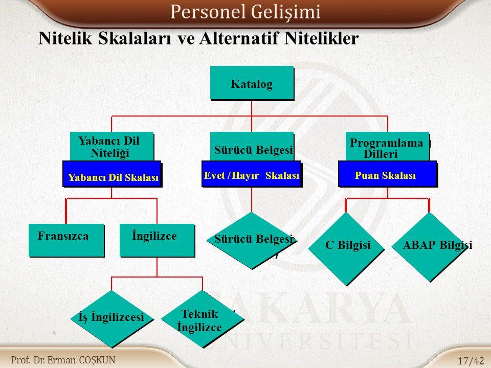 Personel Gelişimi Nitelik Skalaları ve Alternatif Nitelikler Katalog