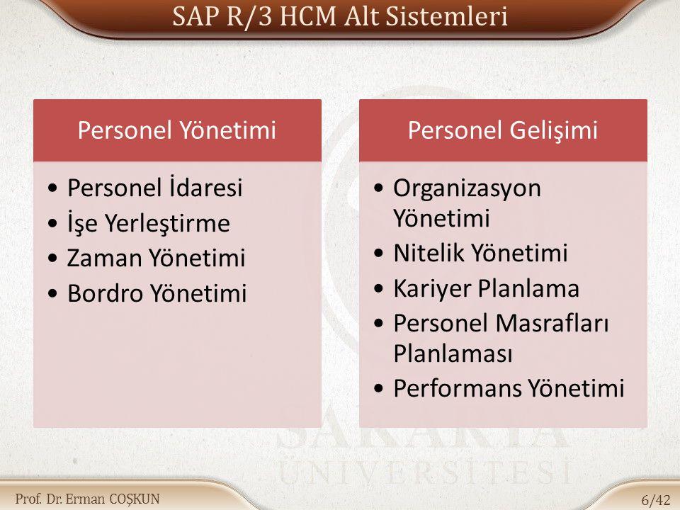 SAP R/3 HCM Alt Sistemleri