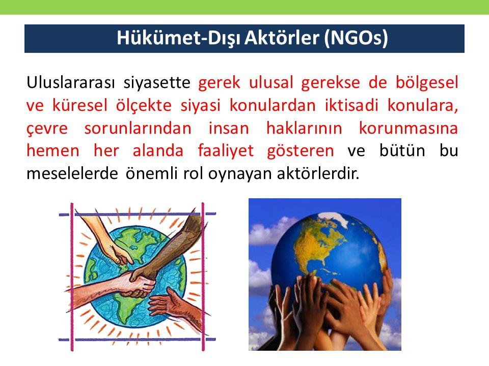 Hükümet-Dışı Aktörler (NGOs)