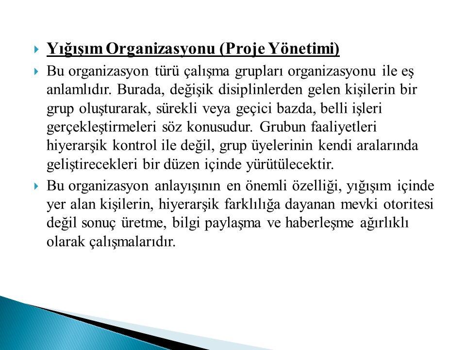 Yığışım Organizasyonu (Proje Yönetimi)