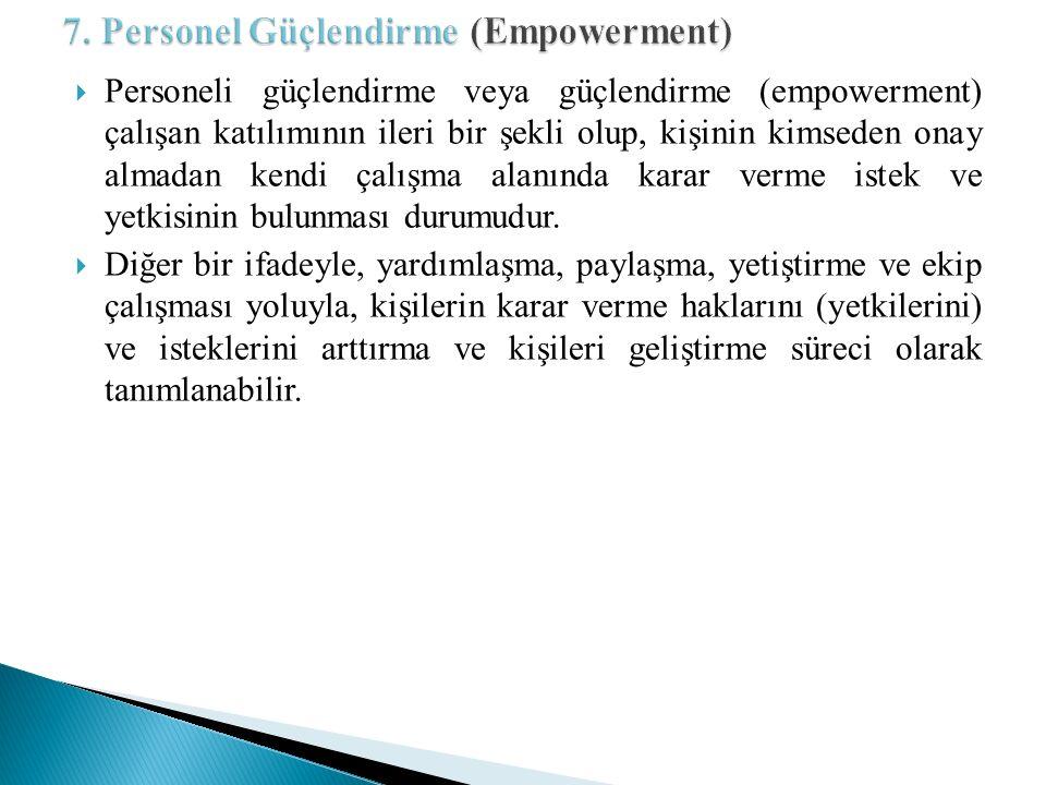 7. Personel Güçlendirme (Empowerment)