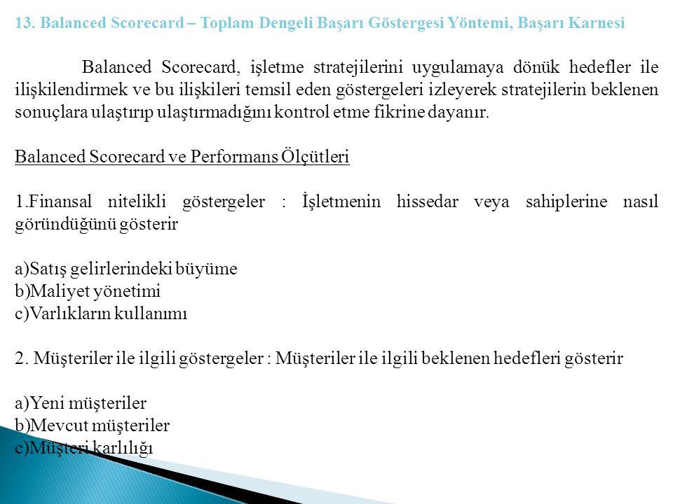 Balanced Scorecard ve Performans Ölçütleri