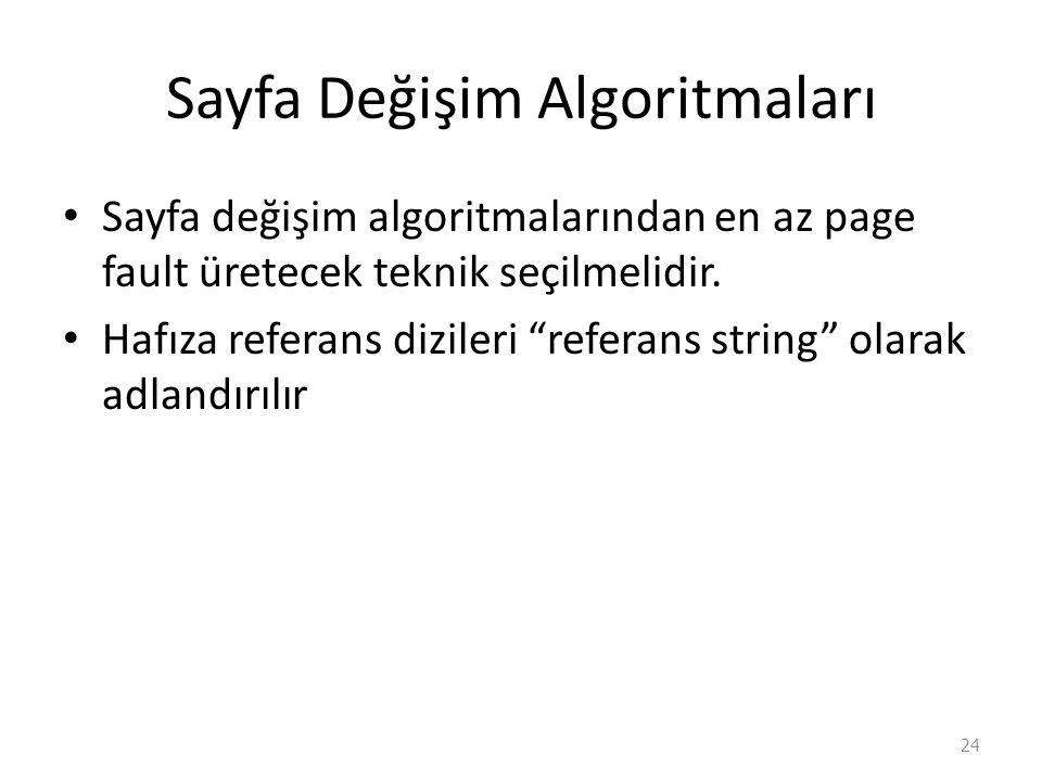 Sayfa Değişim Algoritmaları