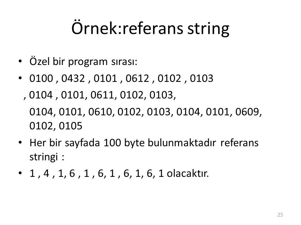 Örnek:referans string