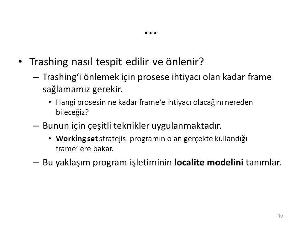 ... Trashing nasıl tespit edilir ve önlenir