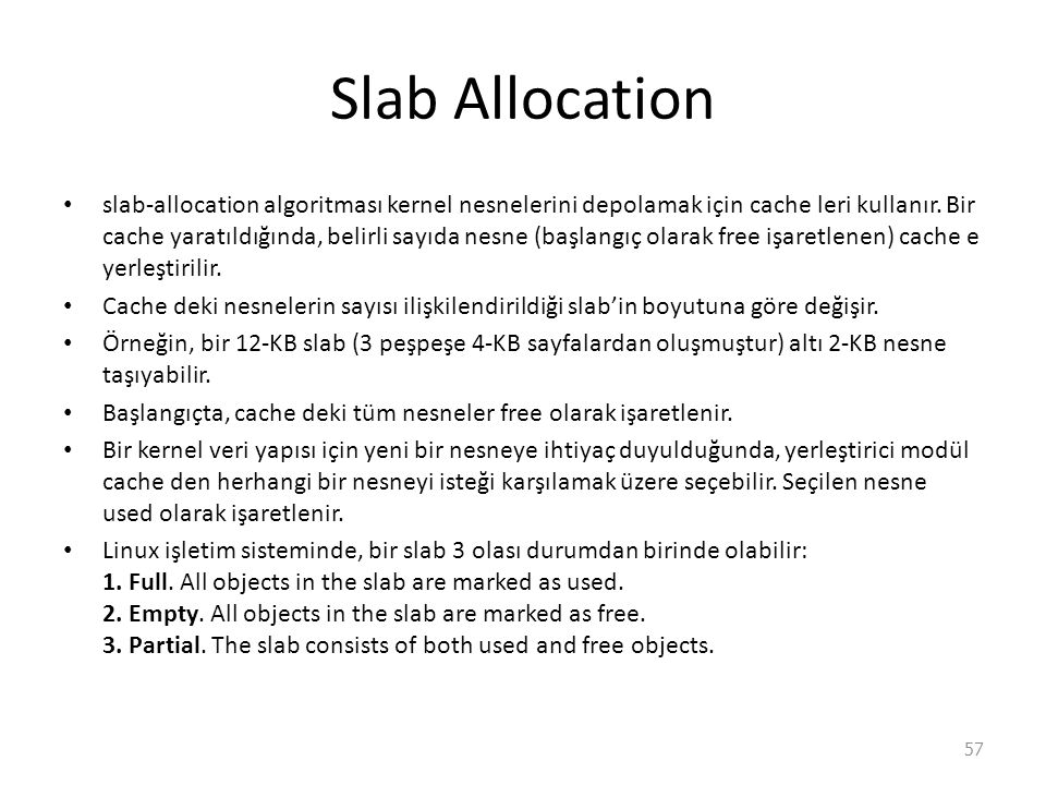 Slab Allocation