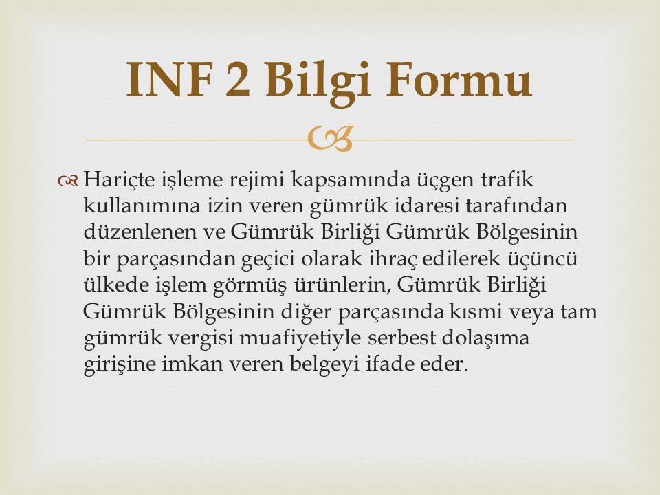 INF 2 Bilgi Formu