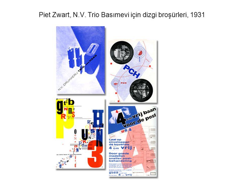 Piet Zwart, N.V. Trio Basımevi için dizgi broşürleri, 1931
