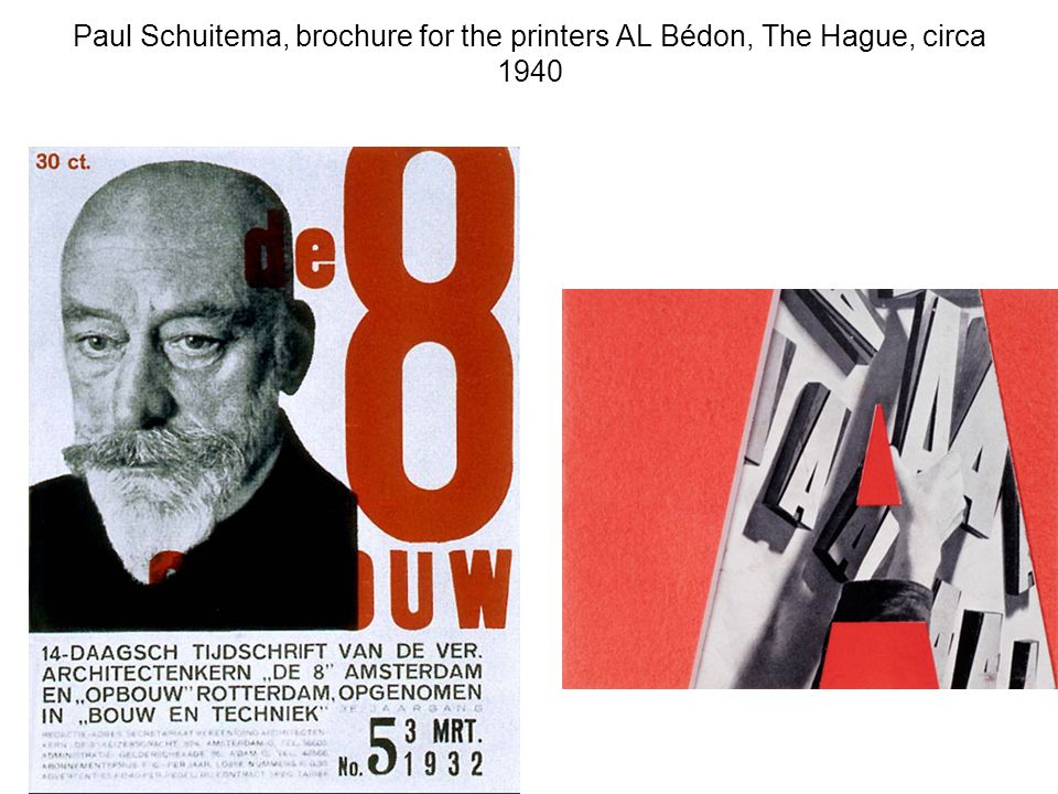 Paul Schuitema, brochure for the printers AL Bédon, The Hague, circa 1940