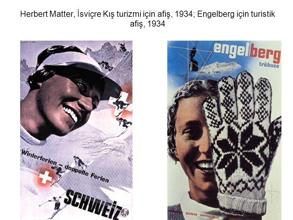 Herbert Matter, İsviçre Kış turizmi için afiş, 1934; Engelberg için turistik afiş, 1934