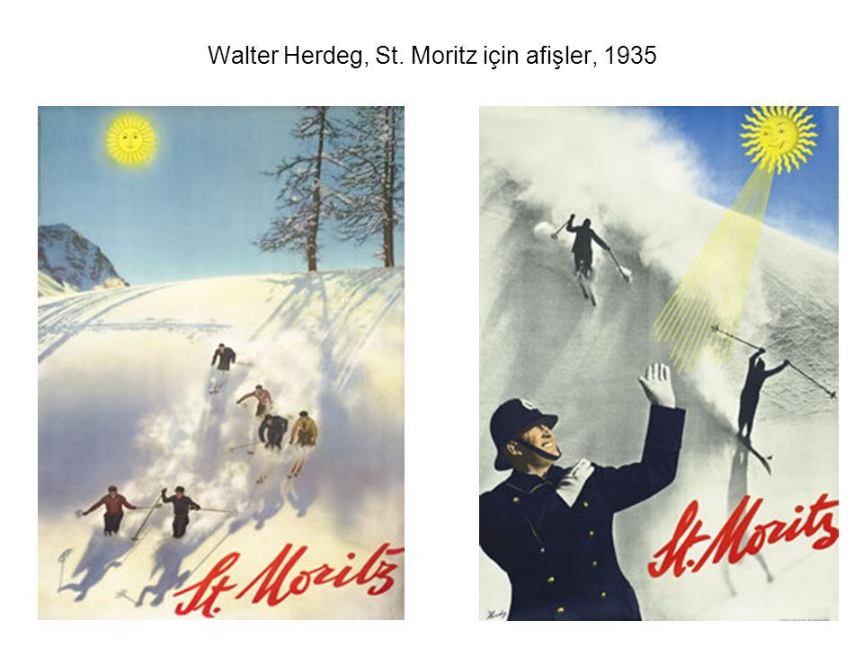 Walter Herdeg, St. Moritz için afişler, 1935