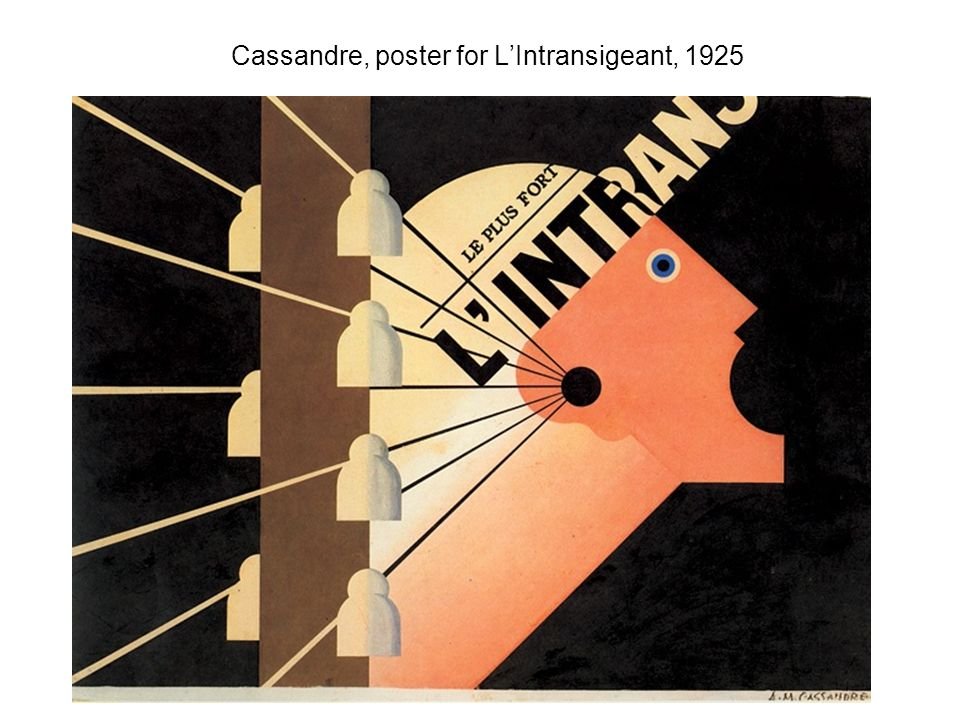Cassandre, poster for L'Intransigeant, 1925