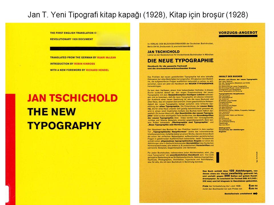 Jan T. Yeni Tipografi kitap kapağı (1928), Kitap için broşür (1928)