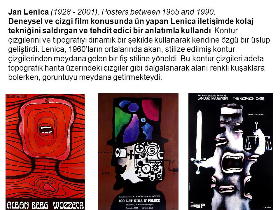 Jan Lenica (1928 - 2001). Posters between 1955 and 1990