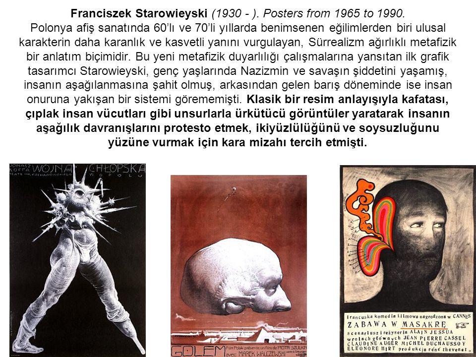 Franciszek Starowieyski (1930 - ). Posters from 1965 to 1990
