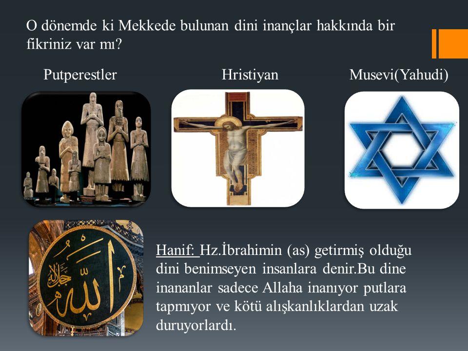 O dönemde ki Mekkede bulunan dini inançlar hakkında bir fikriniz var mı